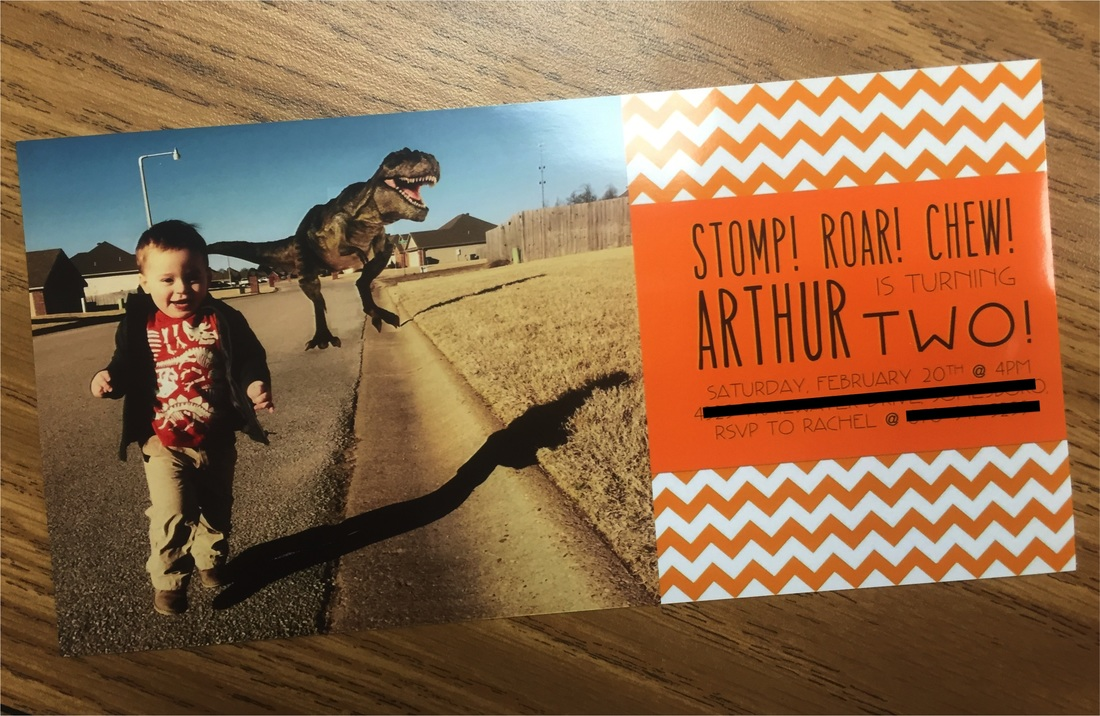 diy custom dinosaur bday invite