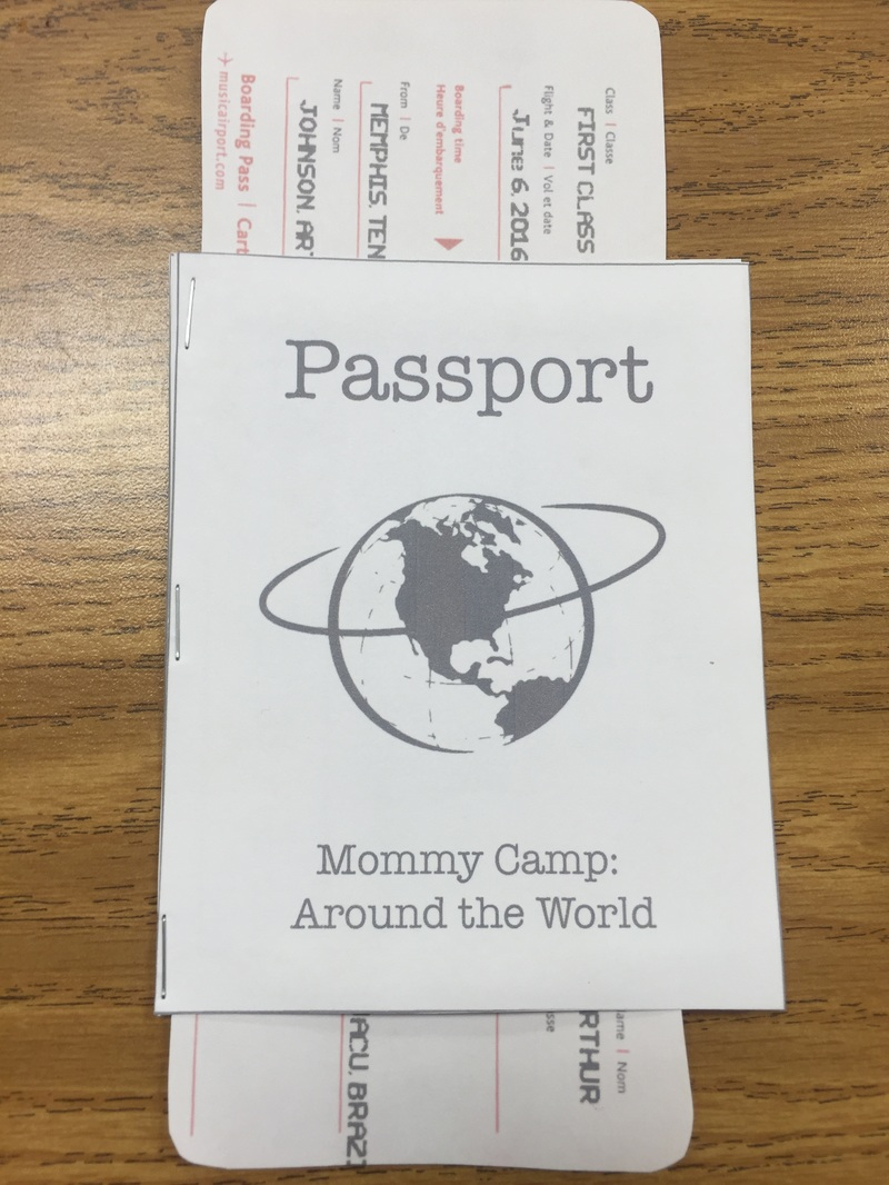 free passport printable and link to create your own airplane ticket