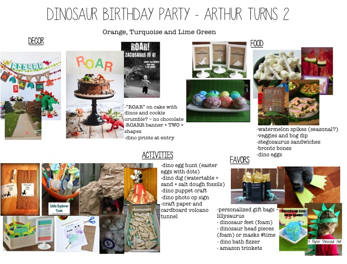 dinosaur bday party plan