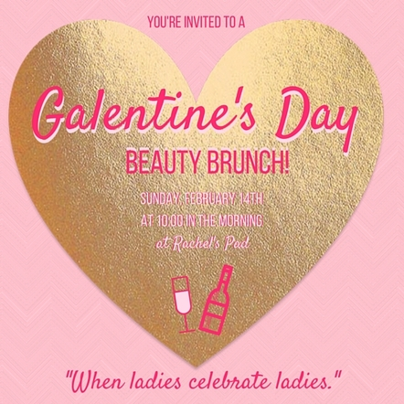 galentine's day party brunch invitation