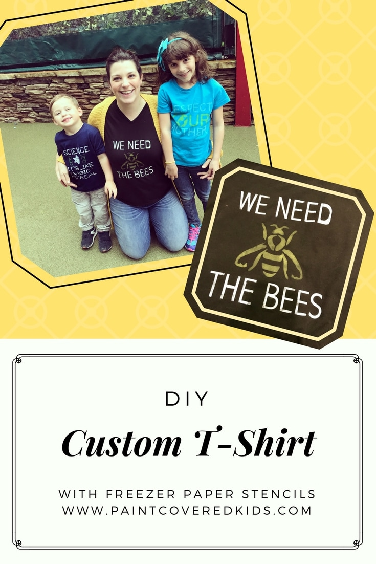 Learn how to make awesome and professional looking t-shirts using paint and freezer paper!